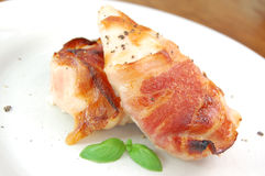 Chicken bacon stock photo