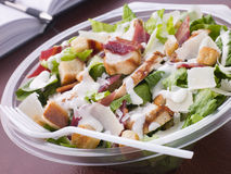 Chicken And Bacon Caeser Salad Royalty Free Stock Photos