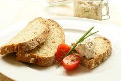Chicken and bacon spread and wheaten bread Stock Photo