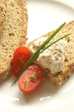 Chicken and bacon spread and wheaten bread Stock Image