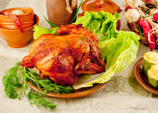 Chicken baked Stock Photography
