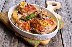 Chicken baked Stock Photo