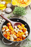 Chicken baked with pumpkin Royalty Free Stock Image