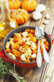 Chicken baked with pumpkin Royalty Free Stock Photography