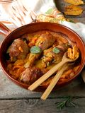 Chicken baked with pumpkin and sage Royalty Free Stock Photos