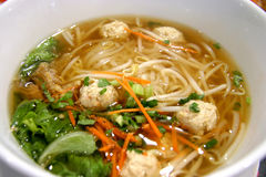 Chicken ball noodles Stock Image