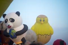 Chicken balloon and bear balloon Stock Images