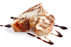 Chicken with balsamic sauce Royalty Free Stock Image