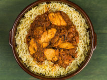 Chicken Balti Curry and Pilau Rice Stock Photography