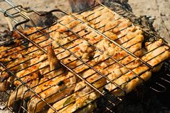 Chicken barbecue Royalty Free Stock Photography