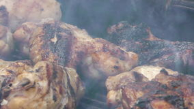 Chicken Barbecue stock footage