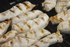 Chicken on a Barbecue Grill Royalty Free Stock Photography