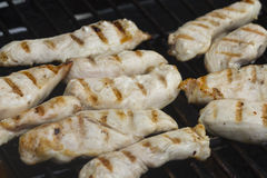 Chicken on a Barbecue Grill Royalty Free Stock Photos