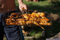 Chicken barbecue on the grill Stock Photo
