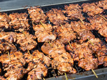 Chicken on the barbecue Royalty Free Stock Photography