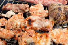 Chicken on the barbecue Royalty Free Stock Images