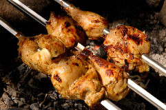 Chicken barbeque Stock Image