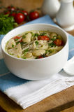 Chicken and bean soup Royalty Free Stock Image