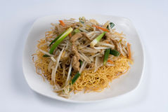 Chicken with bean sprouts Stock Photo