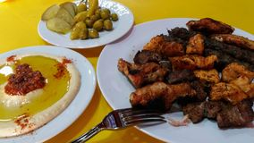 Mixed Palestinian grill stock photography