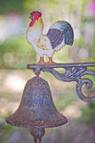 Chicken and bell Royalty Free Stock Photos