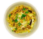 Chicken Biriyani dish royalty free stock images
