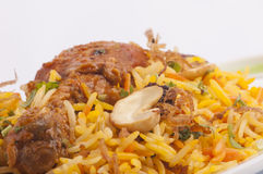 Chicken biruyani closeup Royalty Free Stock Photos