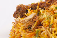 Chicken biruyani closeup image Royalty Free Stock Photos