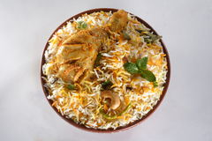 Chicken biryani. Indian chicken biryani studio table top Stock Photo