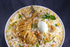 Chicken biryani. Indian chicken biryani studio table top Stock Photos