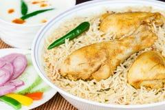 Chicken Biryani Closeup Stock Images