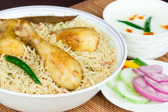 Chicken Biryani Closeup Royalty Free Stock Photos