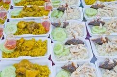 Chicken biryani and hainanese chicken rice Royalty Free Stock Photo