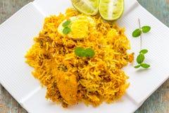 Chicken Biryani - Indian Food. Popular Indian rice dish of chicken biryani Royalty Free Stock Image