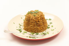 Chicken biryani moulded Stock Photography