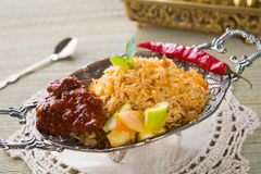 Chicken Biryani rice Stock Image