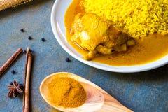 Chicken Biryani with rice Stock Photo