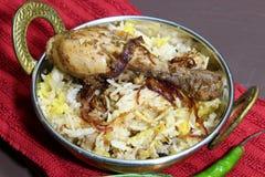 Chicken Biryani Stock Photo