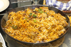 Chicken Biryani the spicy rice Stock Photo