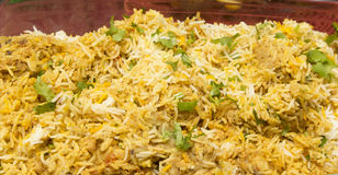Chicken Biryani the spicy rice Stock Image