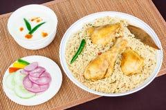 Chicken Biryani Top View Stock Photo