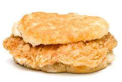 Chicken Biscuit. A delicious Chicken Biscuit ready to be eaten Stock Image