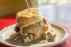 Chicken Biscuit and Gravy Royalty Free Stock Photos