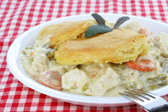 Chicken and Biscuits Royalty Free Stock Photos