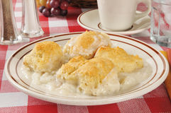 Chicken and biscuits Royalty Free Stock Photography