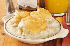 Chicken and biscuits Royalty Free Stock Images