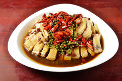 Chicken in black bean sauce Royalty Free Stock Photos