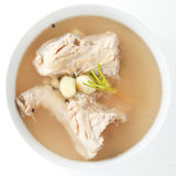 Chicken bone stock soup Stock Image
