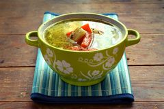 Chicken bouillon Stock Photo