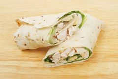 Chicken bread wraps Stock Photo